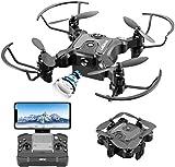 4DRC V2 Mini Drone con Cámara 720P HD Plegable FPV Control de Voz, Control de Gestos, Trayectoria de Vuelo, Vuelo Circular, Rotación de Alta Velocidad, FILP 3D, Sensor G, Modo sin Cabeza
