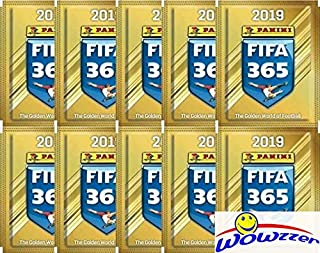 2019 Panini FIFA 365 Stickers Collection of TEN(10) Factory Sealed Sticker Packs with 50 MINT Stickers! Look for Top Stars including Ronaldo, Neymar, Messi,Hazard & More! Imported from Europe! WOWZZER