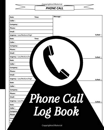 Phone Call Log Book: Phone Call & Voicemail Recording Notebook, Over 500 Telephone Record Space, Home & Office Call Monitoring Log R2
