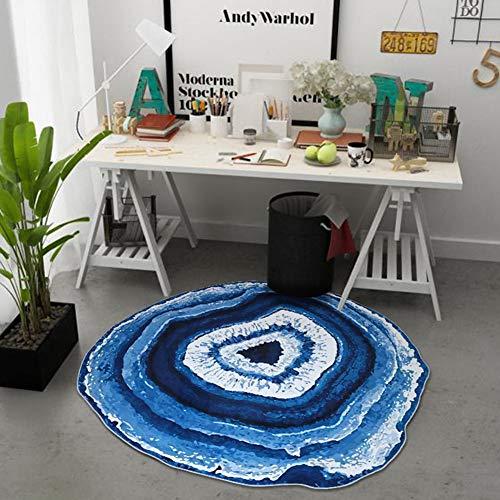 WANGXN Rund Teppich Europäischen Teppich Computer Stuhl Swivel Kissen Krabbeln Mats Spieldecke Schlafzimmer Teppiche Boden Fun-Spiel-Matte,160cm