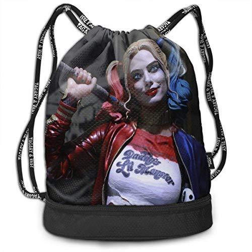 Harley Quinn Fashion Leichte Multifunktions-Bundle Rucksack Umhängetaschen Outdoor Drawstring Bag Für Männer/Frauen