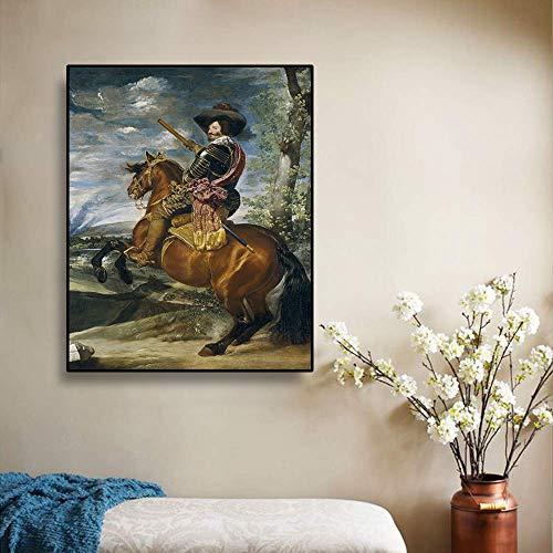 ganlanshu Dipinti ad Olio su Tela, Immagini di Cavalieri, Poster e Stampe di Decorazioni per la casa,Pittura Senza Cornice,40x50cm