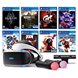 Playstation VR 8 Must-Play AAA Games Deluxe Bundle: PSVR Headset with Motion Controllers, Skyrim VR, Iron Man, Resident Evil, Astro Bot, Gran Tourism Sport, Star Wars, Doom VFR and VR Worlds