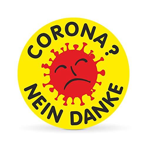 Betriebsausstattung24 Corona? - Nein Danke Auto-Aufkleber | Atomkraft Nein Danke | Sticker fürs Auto (Folie, 10,0 cm)