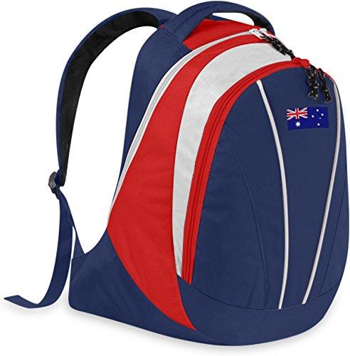 Gear Up Fan Rucksack mit Länderflagge Farbe Australien