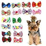 <span class='highlight'><span class='highlight'>Huangzhiping</span></span> Craft 20pcs Dog Hair Bows Pet Grooming Products Mix Colors Patterns Pet Hair Bows Dog Accessories