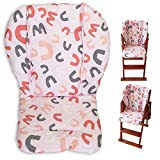 Cojín de la silla alta, Amcho Cochecito de bebé/Trona / Cojín del asiento de coche Película protectora Almohadilla de la silla alta transpirable (Piña amarilla)