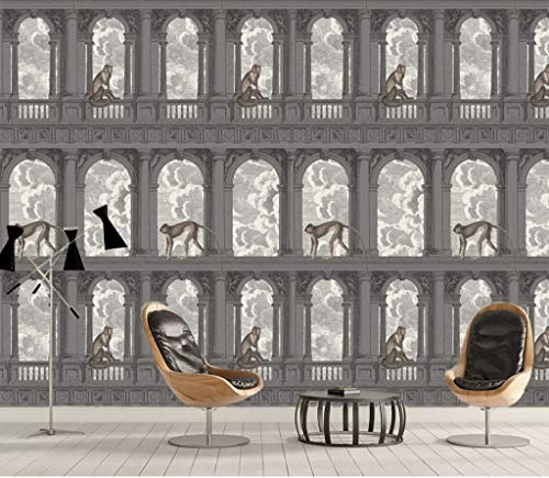 """3D Retro Boog Aap WG0361 Behang Afdrukken Decal Deco Binnen Muur Muurschildering Zelfklevend Behang AJ WALLPAPER NL Muzi (Geweven papier (lijm nodig), 【205""""x114""""】520x290cm(WxH))"""