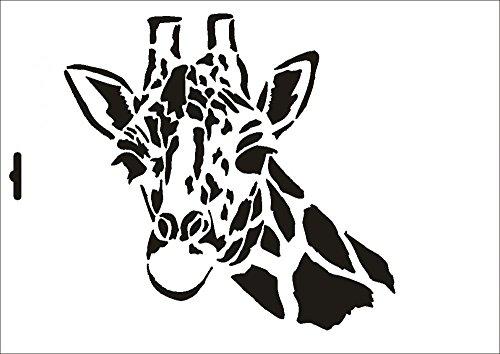 UMR-Design W-037 Giraffe Wand/Textilschablone Grösse A5