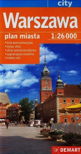 Warszawa. Plan miasta w skali 1:26 000