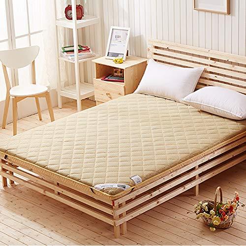 Z&HA Tatami Materasso, Tradizionale Giapponese Futon coprimaterasso Morbido Traspirante Memory Foam Sleeping Pad,Marrone,100x200cm