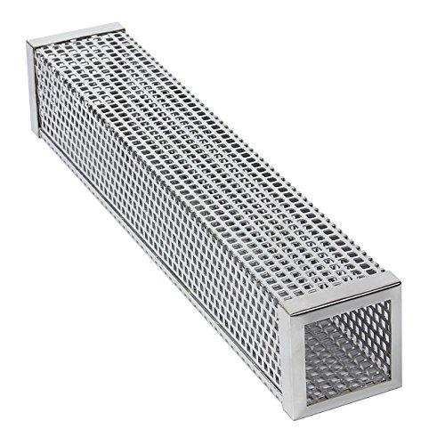 Evilandat - Tubo ahumador de acero inoxidable 304, para caja de ahumado de pellets, para parrilla de gas y carbón, 30/15 cm, cuadrado/redondo/triangular