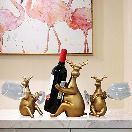 Puesto de vinos Estante Sostenedor de vino 39.5 * 9 * 28cm (oro) Restaurante del estante del vino Heladera for vinos Decoración Adornos Decorada En Estilo Escandinavo hogar creativo decoraciones de ci