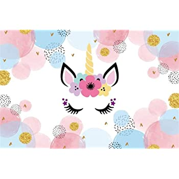 Amazon Com Aofoto 9x6ft Girl Baby Shower Photo Booth Backdrop Vinyl Wallpaper Sweet Unicorn Theme Party Events Decoration Kids Little Princess Birthday Photography Background Cloth Photo Studio Props Camera Photo
