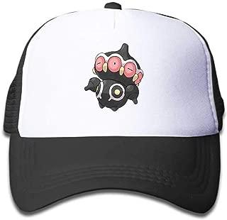 MWHprint Youth Adjustable Mesh Hats Baseball Trucker Cap for Boys and Girls, Pokemon Claydol, Black, Sky Blue, Pink