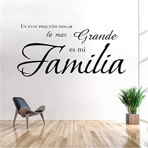 kangbaby En Esta pequeña casa, la Cosa más Grande es mi Familia Vinilo de Vinilo español, calcomanías, calcomanías, decoración...