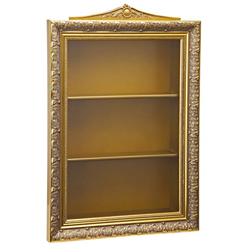 Design Toscano Eggs of The Tsar Wall Curio Display Cabinet, 18 Inch, Gold