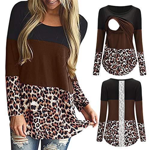 MTB Shirt Damen leinen Shirt Damen Reißverschluss Longshirt Damen Kurzarm Sport Hemd Damen Kurzarm Poloshirt Damen Kurzarm(AC Kaffee, XL)
