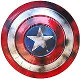 Escudo Capitan America Metal 1: 1 Adulto Apoyos de Película Niños Hierro Forjado CapitáN AméRica Shield Vengadores Decoración De Pared De Tienda De Bar Creativo C,47CM