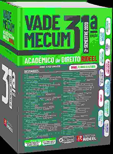 Vade Mecum Acadêmico De Direito - Rideel 31ª Edição - 2° Semestre 2020 (atualizado Até 31/07/2020)