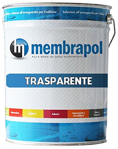 MEMBRAPOL TRASPARENTE CONFEZIONE 5 KG - SPEDIZIONE GRATUITA - Impermeabilizzante per Terrazze, balconi
