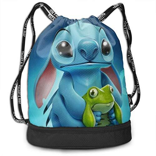 Etryrt Mochila de Cuerda Bolsas de Gimnasia Stylish Cute Stitch Lightweight Sackpack Sport Gym Bundle Backpack
