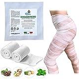 Ritalia Bende drenanti gambe / 2 Bendaggi drenanti gambe con Effetto Freddo azione Tonificante e Defaticante con Estratti 100% Naturali/Bendaggio da estetista con fosfatidilcolina