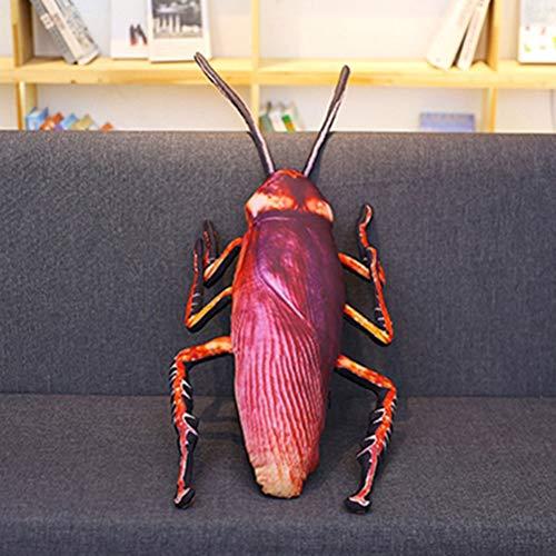 NACOLA Simulación de cucaracha de Peluche Almohada de Peluche, Divertido Juguete de Insectos, muñeca para niños Creativa Suave Almohada, 115 cm
