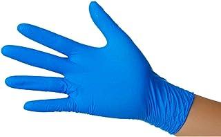 Semy Care Guantes de nitrilo sin polvo color azul talla L, AQL 1,5, 1 paquete de 100 guantes