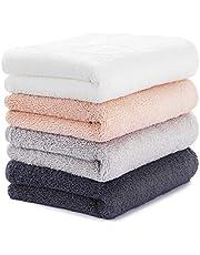 Akali タオル フェイスタオル 速乾 吸水 抗菌 ふわふわ 柔らかい 綿100% 男女兼用 家庭用 業務用 贈り物 シャワー、温泉、水泳に適用
