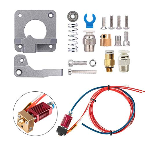 YDong Creality Upgrade MK8 Extruder Assembly Hot End Kit, with Full Metal Aluminum Gray Extruder Feeder, Suitable for Ender 3