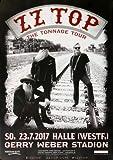 ZZ Top - The Tonnage, Halle 2017 » Konzertplakat/Premium