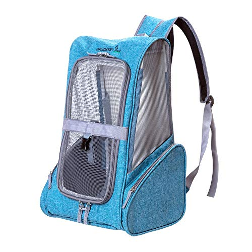 YaGFeng Pet Stroller Pet Pull Portable Backpack Shoulder Portable Pet Cat Permeable Bags Trolley for Cats Dogs Travel Carriage (Color : Gray, Size : 37 * 26 * 43cm)