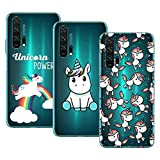 Young & Ming Cover per Huawei Honor 20 PRO, (3 Pack) Morbido Trasparente Silicone Custodie...