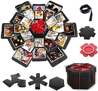 Honest Shop Exquisite explosion gift box set, DIY photo album gift box, Valentine's Day box, Wedding Anniversary box,Birth...