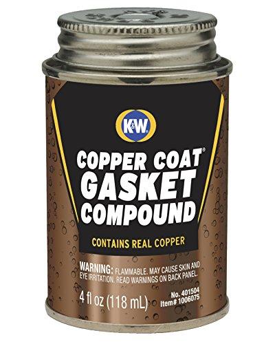 K&W 401504 Copper Coat Gasket Compound - 4 Fl Oz