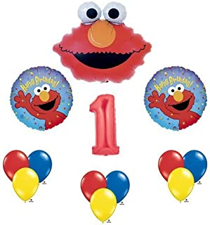 Elmo Sesame Street 1 1st First Birthday Party Supply Balloon Mylar Latex Set