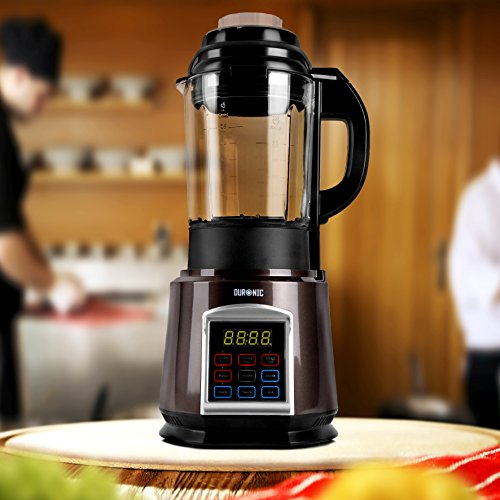 Duronic Soup Maker BL91 Steamer Blender 1000W Automated Glass Jug Soup and Smoothie Maker