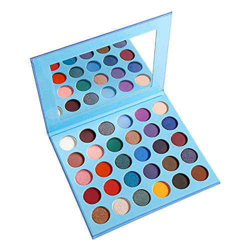 Eyeshadow Palette Nude Matte, Highly Pigmented Chocolate-30 Colour Makeup Palettes Eye Shadow, Cream Shimmer Metallic Cruelty Free Big Eyeshadow Pallet,A