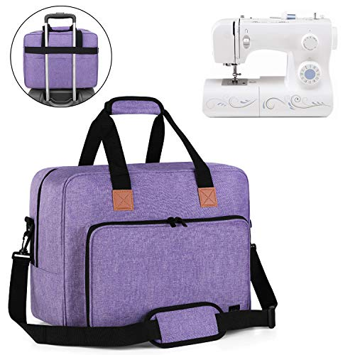 Luxja Sewing Machine Bag, Portable Tote Bag Compatible with Most Singer, Brother Sewing Machines and Extra Sewing Accessories, Purple