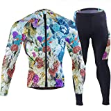 DEZIRO Corail Reef Under Sea Cyclisme Maillot de sport Vêtements de Cyclisme 3D Rembourré Pantalon - multicolore - XX-Large