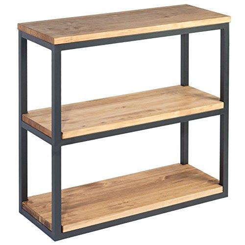 Indhouse - Estantería loft con estilo industrial en metal y madera Farrow