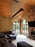 log cabin lighting, rustic cabin lighting, industrial chandelier, rustic interior light fixtures, barn style lights, wood beam with lights, rustic lighting, rustic light fixtures, large chandeliers