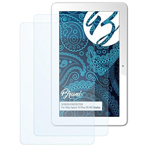 Bruni Schutzfolie kompatibel mit Odys Space 10 Plus 3G HQ Bildschirm Folie, glasklare Bildschirmschutzfolie (2X)
