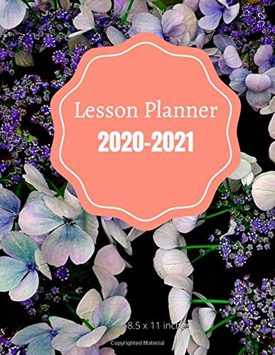 Teacher Lesson Planner: Weekly and monthly plan book   Academic year (September - August)   Blue and Lavender