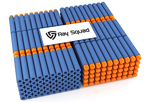 Ray Squad 500-Piece Set, Compatible Nerf Dart Foam Toy Darts, Premium Refill Bullets for N-Strike Guns, Universal Mega Pack, Firm and Safe Nerf Accessories Amazing Precision Control