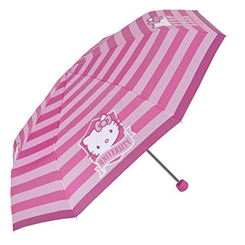Hello Kitty Kinder Schirm - Taschenschirm für Mädchen - Leichter Kompakter und Windfester Regenschirm - Durchmesser 97 cm - Perletti (Pink)