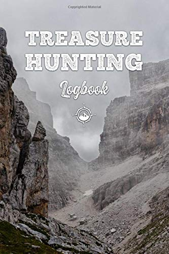 Treasure Hunting Log Book Journal Notebook Diary Planner - Misty Mountainside: Geo Hunt Record with 120 Pages In 6