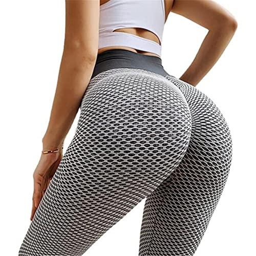 Useqeddjs Leggings de Yoga, Pantalones de Yoga, Cintura Alta, Push up, Fitness, Delgado, Gimnasio, Mallas para Correr, Negro, Entrenamiento, Deportes, Pantalones de Yoga sin Costuras