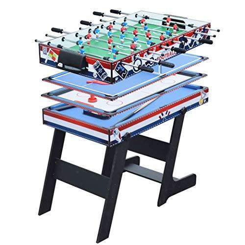 CARACHOME Mesa multijuego Plegable 4 en 1, Mesa de Billar/Air Hockey/Mini Mesa...